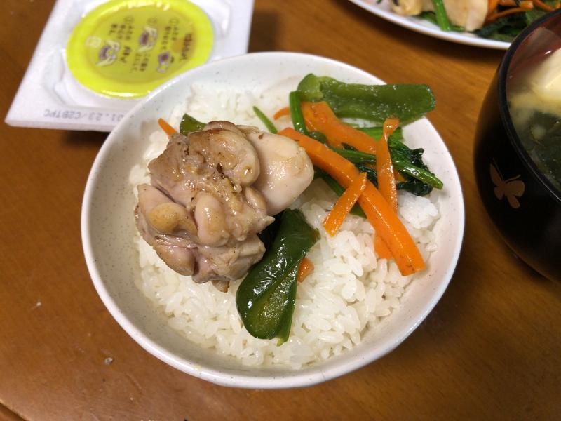 野菜炒めご飯2021/1/20