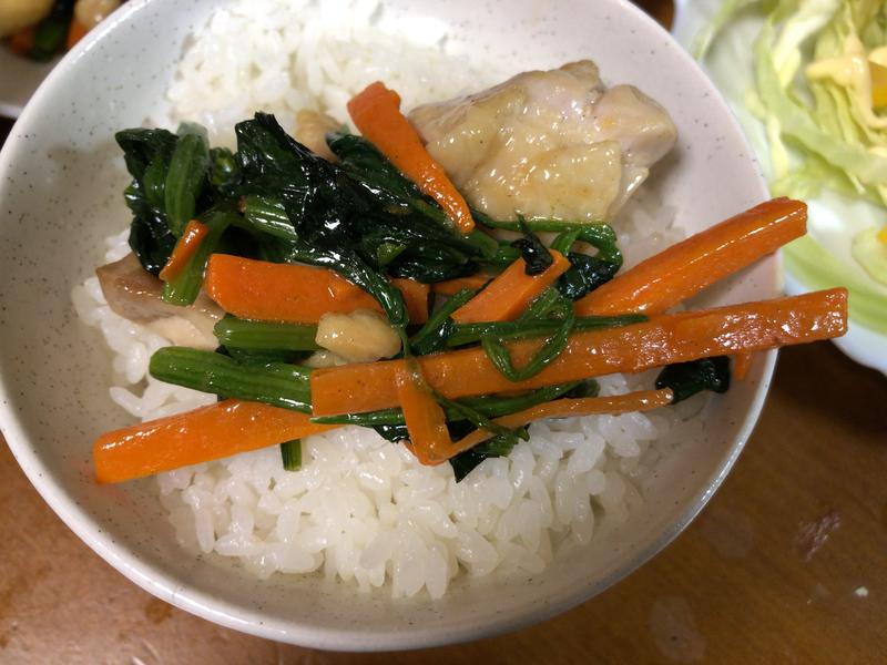 野菜炒めご飯2021/1/21