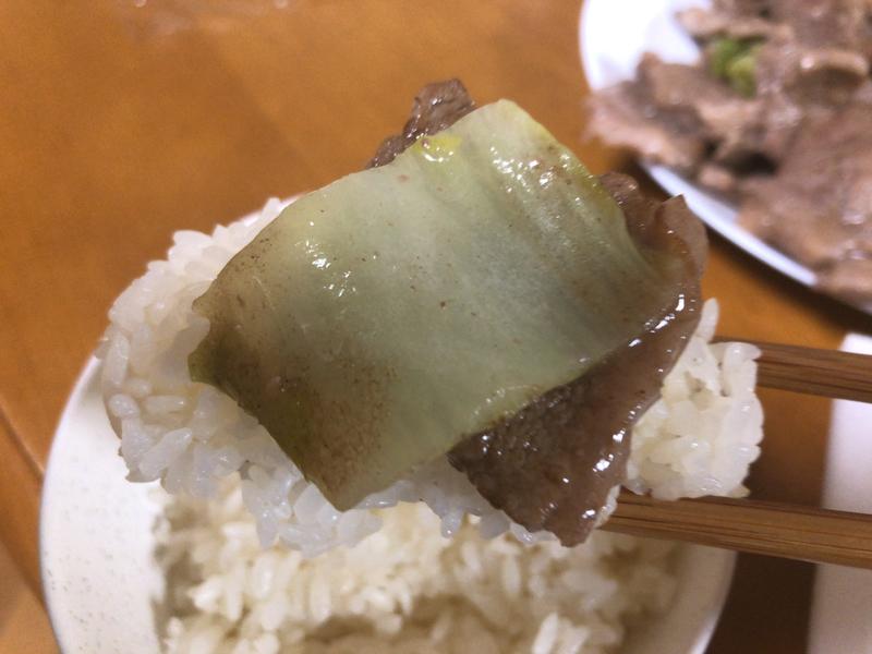 肉野菜炒め掬う2021/2/23
