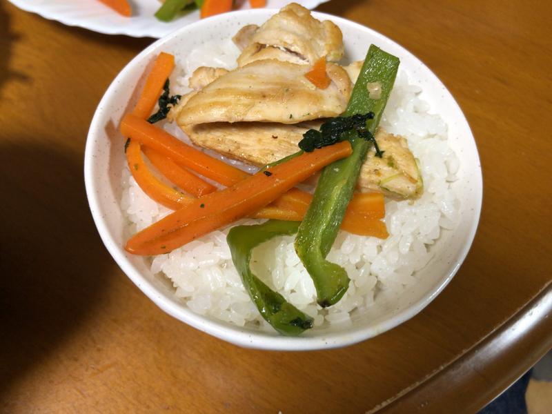 野菜炒めご飯2021/3/2