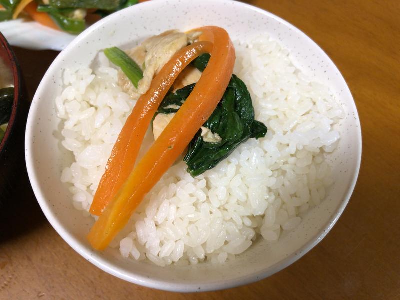 野菜炒めご飯2021/3/6