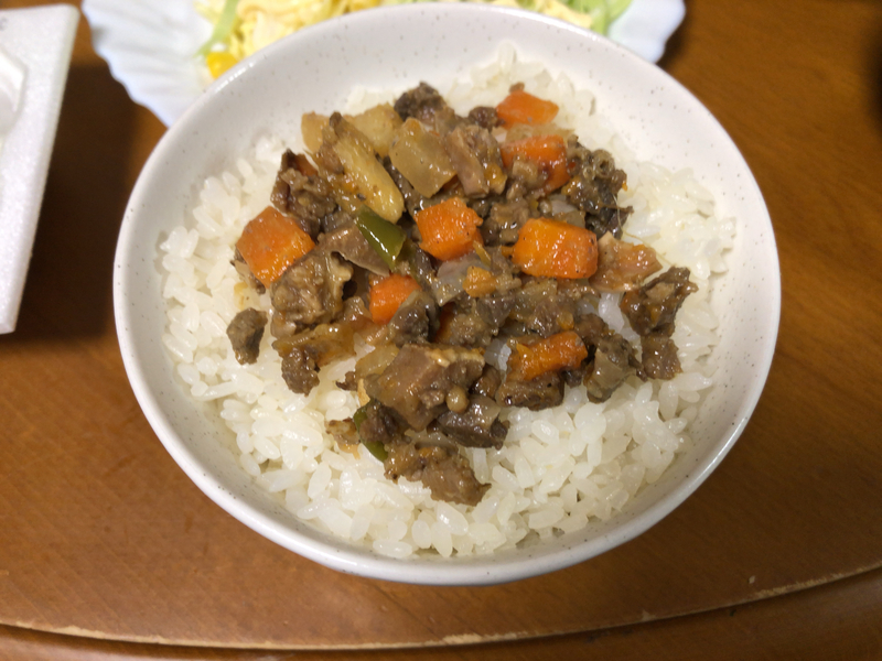 肉野菜炒めご飯2021/3/7