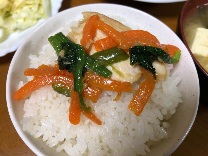 野菜炒めご飯2021/3/11