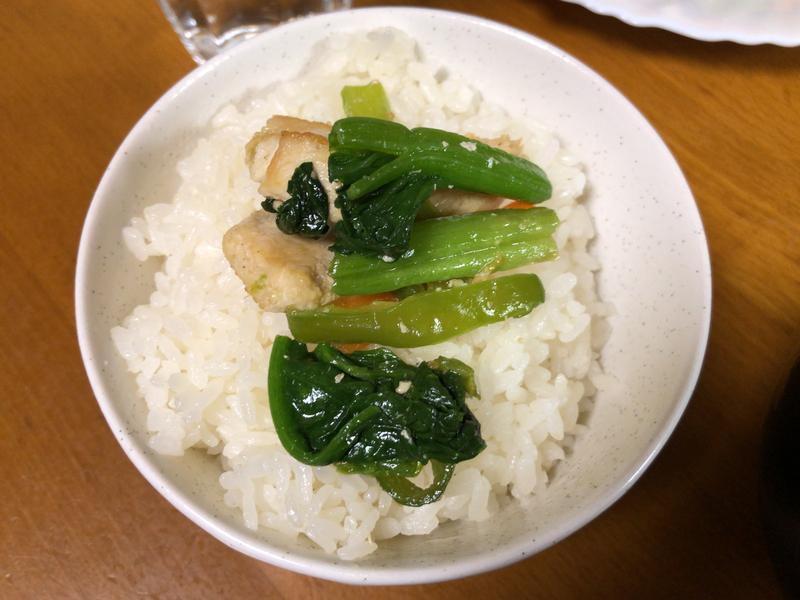 野菜炒めご飯2021/3/21