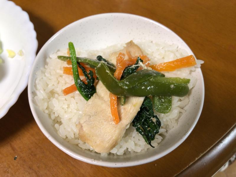 野菜炒めご飯2021/3/27