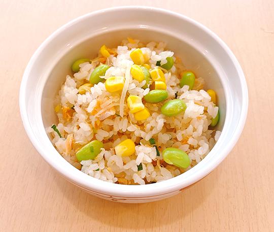 枝豆と鮭の炊き込みご飯01