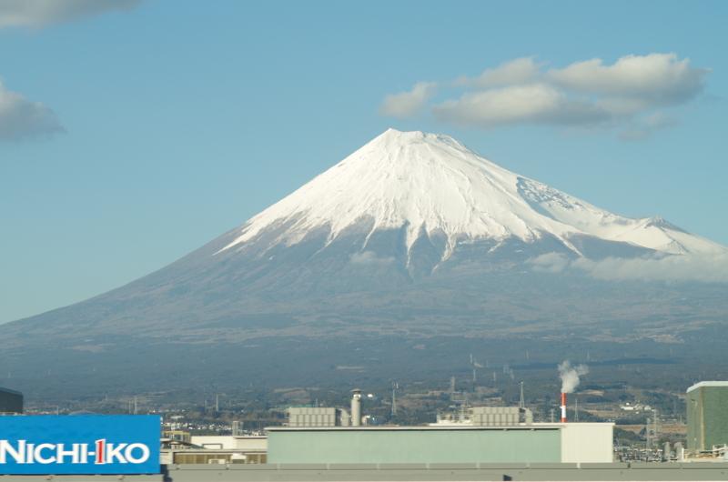 [風景][車窓][富士山]