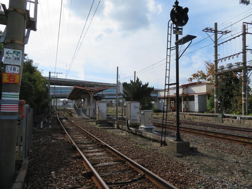 南海木津川駅線路