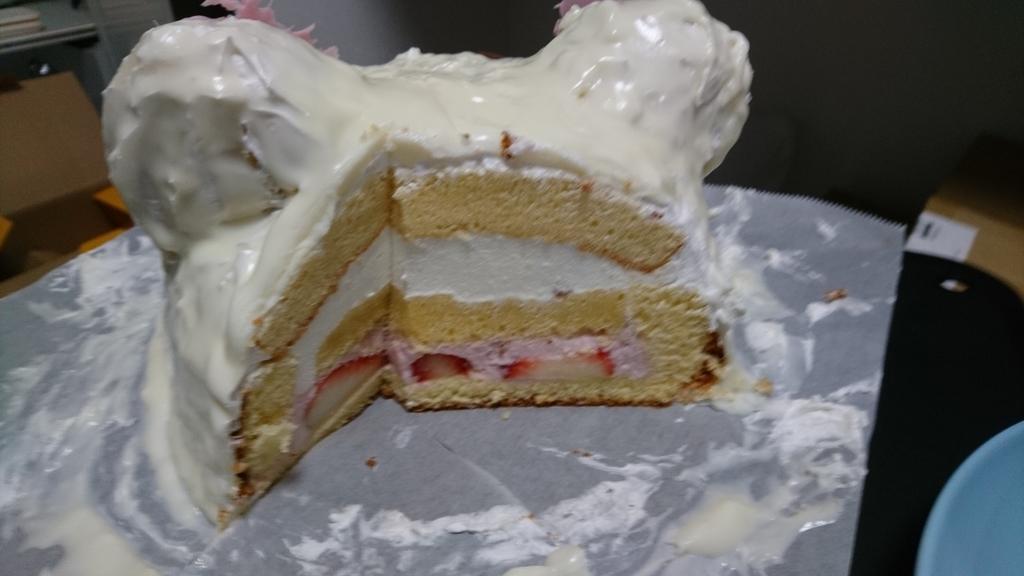 コリラックマケーキ。バージョン2の断面