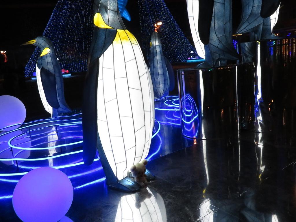 ペンギンのイルミネーション
