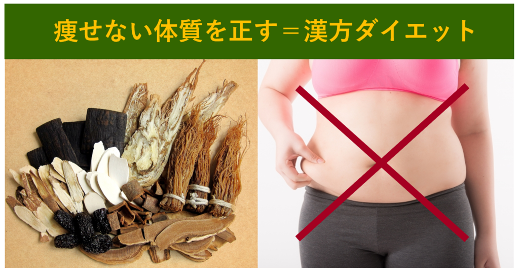 漢方ダイエットは痩せない体質を改善する減量方法