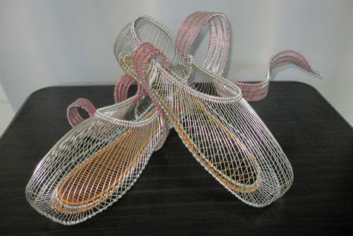 針金細工の靴\u201d wire トウシューズの作り方 , ワイヤークラフト