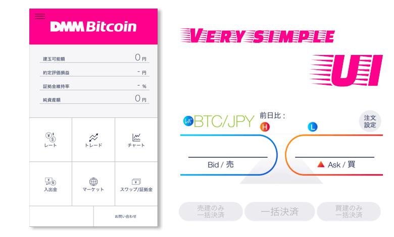 DMMbitcoinトレード画面