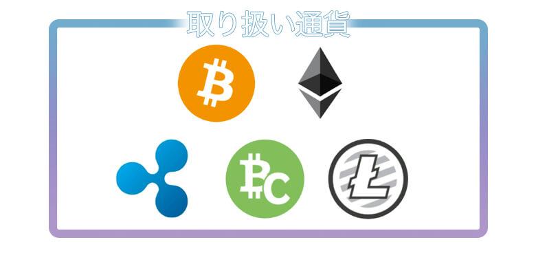 ビットポイント 取り扱い通貨