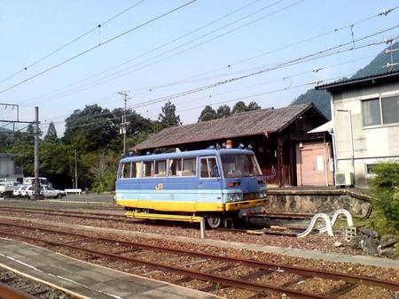 中部天竜駅留置の業務用車両