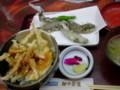 [食]ゲンゲの天ぷらと白えび天丼@「越中茶屋」富山駅
