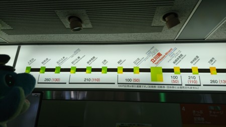 多摩都市モノレール 運賃表