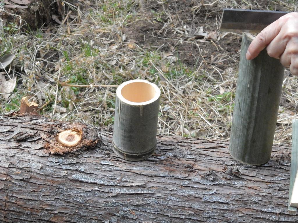 伐採した竹