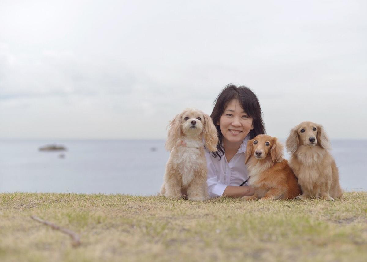 浜田さん 愛犬たち