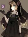黒紫の花嫁