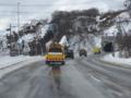 除雪車による救助車両先導訓練