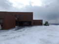 泊村公民館 バス避難集合場所開設訓練(除雪済)