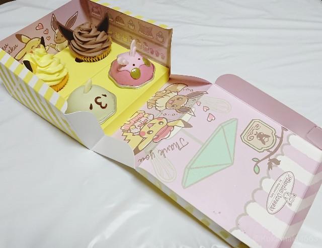 ピカブイカップケーキとゴクリン・ヌメラのムースの写真(箱全体図)
