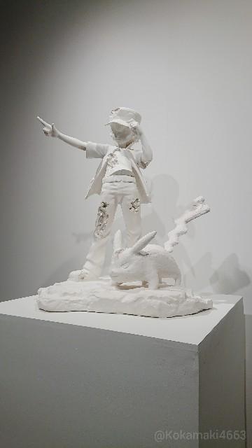 レッドとピカチュウの像(ホワイト)