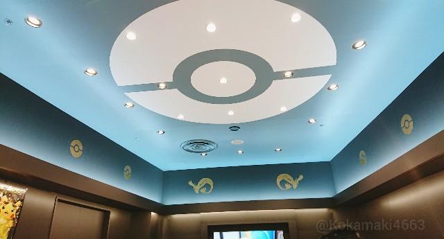 店内の天井の写真
