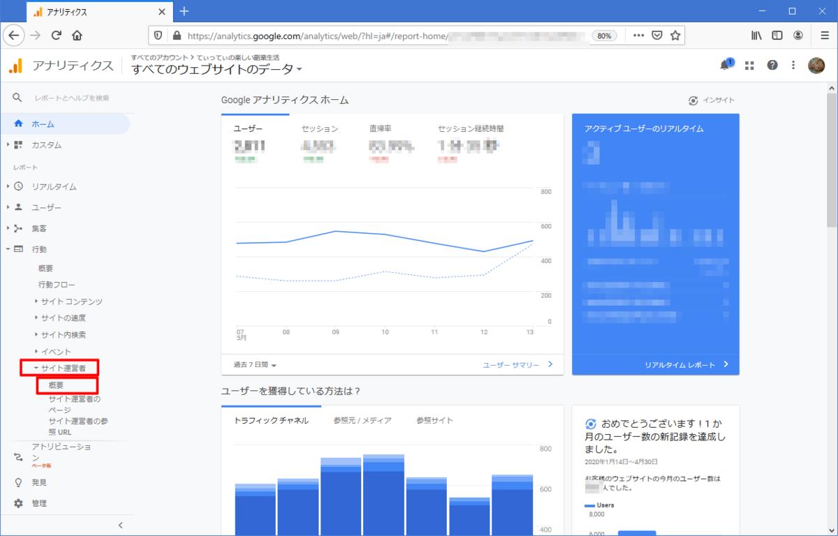 【ページ・記事毎のGoogleAdSense(アドセンス)収益を知る】調べ方1