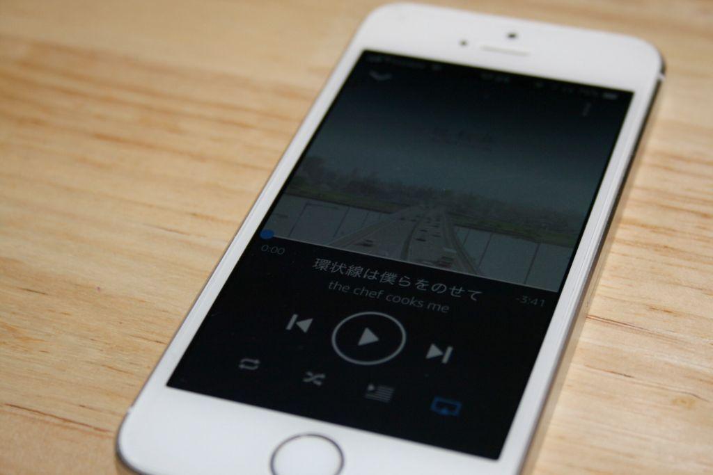 iPhone5s で再生してAirPodsで音楽を視聴する