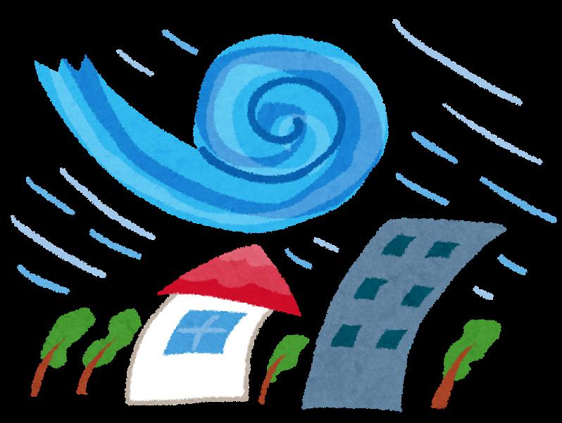 台風 屋根 飛ぶ