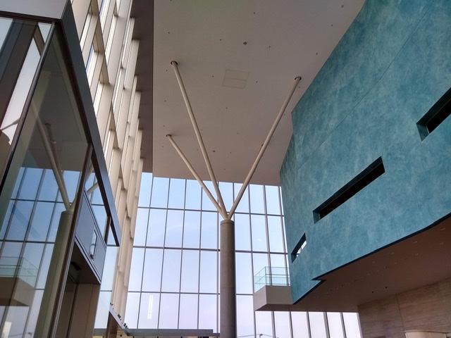 静岡市清水文化会館 マリナート ホワイエ 入り口 柱 枝