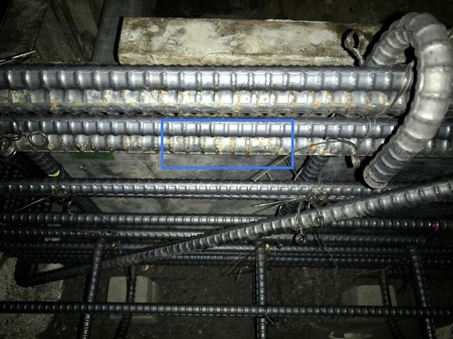 配筋検査 鉄筋径 D16 ロールマーク
