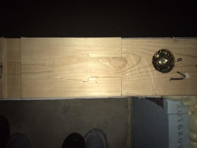 木造 3階 2世帯 検査 土台 継手 欠損 腰掛け