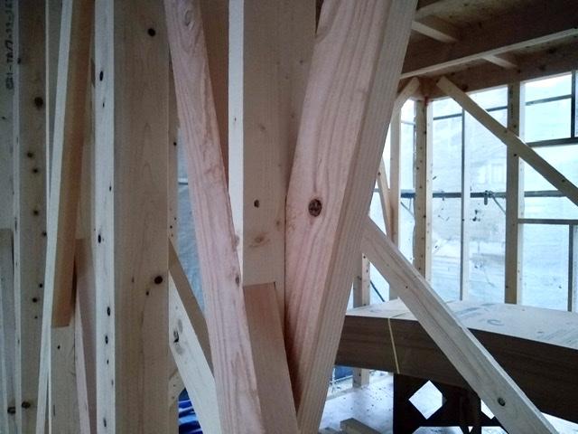 木造 3階 2世帯 筋交い たすき掛け 欠損 金物