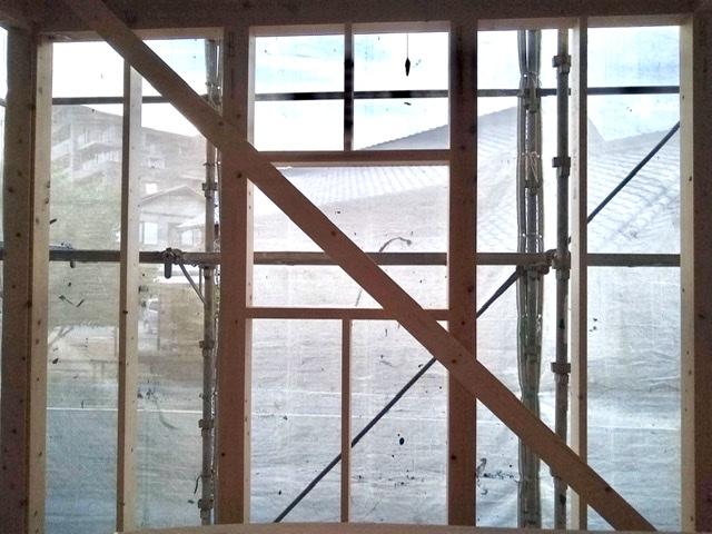 木造 3階 2世帯 サッシ 下地 室内