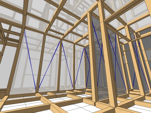 wallstat モデル 3D 立体 内観 視点