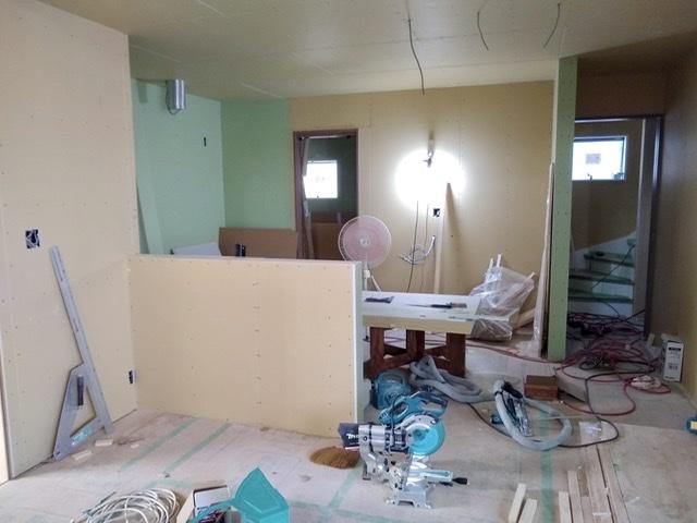 新築 内装 二世帯 キッチン ダイニング