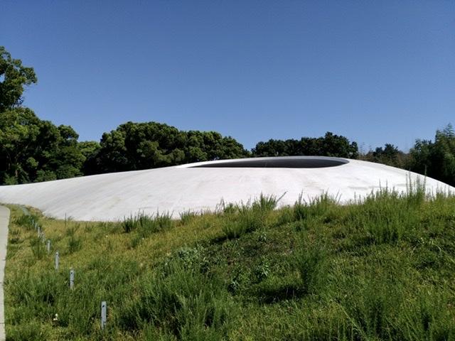 豊島美術館 シェル 白 ドーム 屋根