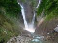[虹][滝]虹をたたえる称名滝の滝つぼ