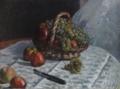 アルフレッド・シスレー<籠のリンゴとブドウ>