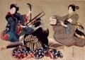 葛飾応為 三曲合奏図 弘化年間