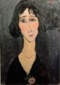 アメデオ・モディリアーニ《バラをつけた若い婦人》1916