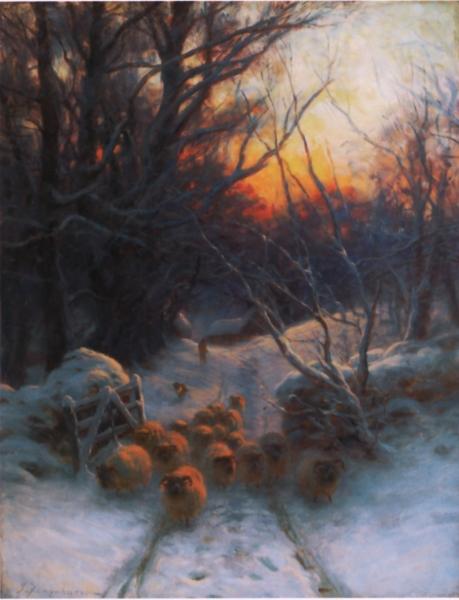 ジョウゼフ・ファーカーソン 「冬の日没」 1904頃