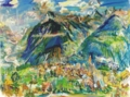 オスカー・ココシュカ「モンタナの風景」1947