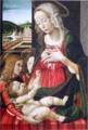 《二人の天使のいる聖母子》バスティアーノ・マイナルディに帰属