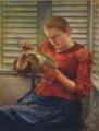 黒田清輝《読書》1891