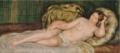 《クッションにもたれる裸婦》ルノワール