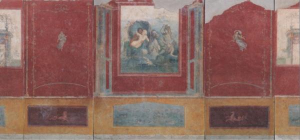 《カルミアーノ農園別荘、トリクリニウム》西壁
